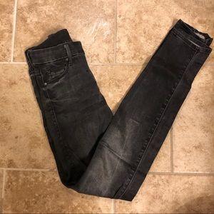 Mother gray denim skinny jean